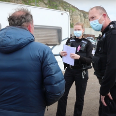 Police visiting Travellers