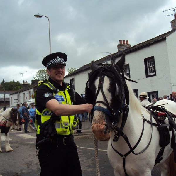 Policeman and horse at Appleby