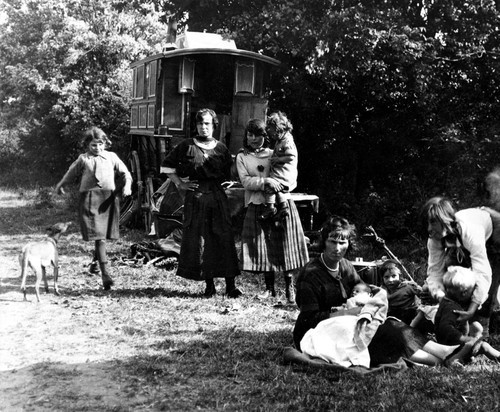 Family Group of Gypsies and Travellers