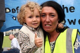 Gypsy Traveller rally against new planning laws