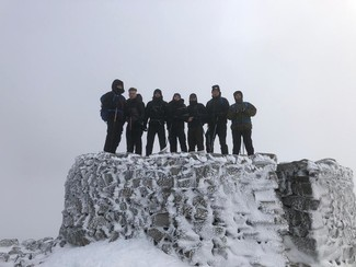 Ben Nevis or bust! Watson and pals in Scotland and set for charity mountain climb tomorrow