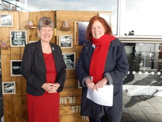 Left to right: Jane Hutt AM with Julie Morgan AM