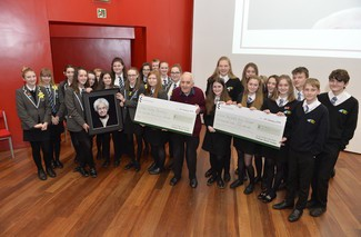 This year's joint winners with Holocaust survivor Frank Bright