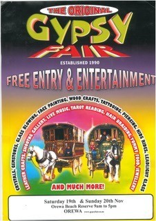 "An Original Gypsy Fair Flyer – ""established 1990"""