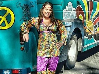 On the Bus? A New Zealand hippy woman
