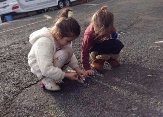 Children play on a Leeds negotiated stopping site – negotiated stopping a 'no-brainer' say campaigners (Picture courtesy of Leeds GATE)
