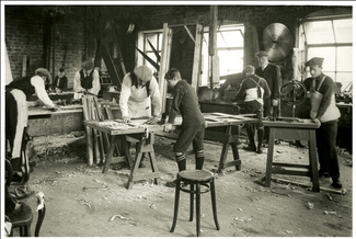 Boys work in a Quarriers workshop © Quarrier Homes