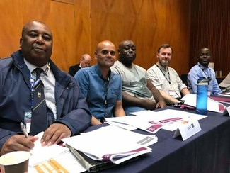 Fighting racism for the train drivers union - Traveller Roger Galloway-Smith with his colleagues from the Black and Ethnic Minority ASLEF Committee.