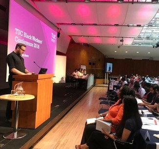 Roger Galloway-Smith speaks at the Black Workers Trade Union conference organised by the TUC