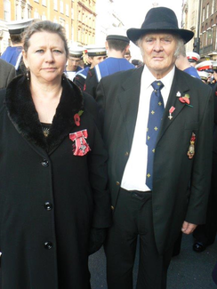 Dr Siobhan Spencer, MBE, CEO of the Gypsy and Traveller lead National Federation of Gypsy Liaison Groups with former Chair Patrick Mercer, MBE, who passed away last year