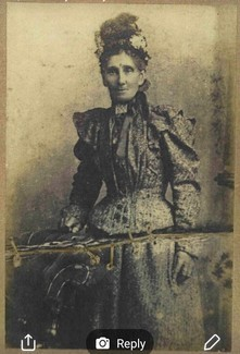 Caroline Small, born 1838 in Devon. Taken about 1890, photo courtesy of Gary Stanley