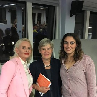 Nathalie Bennett, Kate Green MP and Ivy Manning at an FFT event Ivy organised in Brighton as part of Labour Fringe 2017 (c) FFT