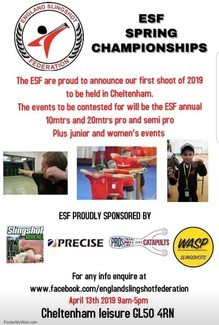 Watch blindfolded sports slingshotter Keith Dighton shoot and hit a tiny target the size of a two pence piece at 20 yards, using only his Jedi skills, as the English Slingshot Federation looks forward to its first competition of 2019 on Saturday, April 13th in Cheltenham.