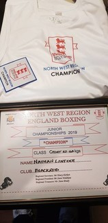 Nathan Linfoot's winning shirt and certificate courtesy of Mike Linfoot