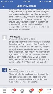 """Facebook page closed by admin following """"abusive, derogatory"""