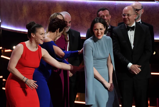 Christina Broadway and the Sid Gentle Films team celebrate success at the 2019 BAFTA Awards (Screenshot)