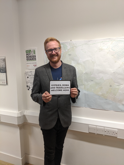 Lloyd Russell-Moyle, Member of Parliament for Brighton Kemptown, pledges to take a stand against racism towards Gypsies, Roma and Travellers