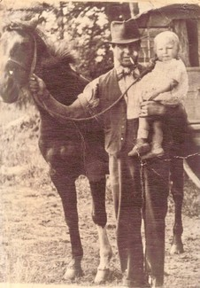 Mooshie (Jeremiah Smith jnr) and one of his children 1946