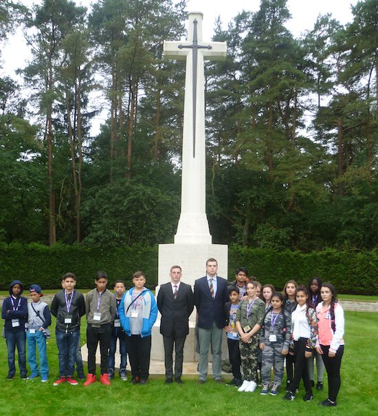 Following a wreath laying at Becklingen Commonwealth War Graves Cemetery (550px * 604px)